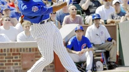 The Cubs' Derrek Lee The Cubs' Derrek Lee hits a two-run double off Pirates starter Charlie Morton in the second inning yesterday at Wrigley Field in Chicago. Lee had seven RBIs before he was given the rest of the game off after the fourth inning.