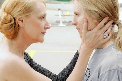 """The East"" Patricia Clarkson, left, is the boss of Brit Marling, who sympathizes with eco-terrorists in ""The East."""