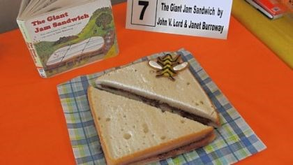 "'The Giant Jam Sandwish' Jane Hatfield of Whitehall won Adult Best in Show and Adult People's Choice for her adaptation of ""The Giant Jam Sandwich."""