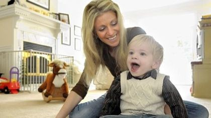 The Gradowskis Cindy Gradowski with her son, Ethan, 2, at home in Richland. Once in line for a priority heart transplant, Ethan's time on the Berlin pump allowed his heart to heal.