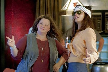 "'The Heat' Melissa McCarthy, left, portrays a free-wheeling Boston detective and Sandra Bullock is an uptight FBI agent in ""The Heat."