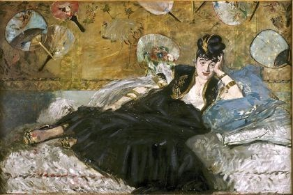 "'The Lady with Fans' Manet's 1873 painting ""The Lady with Fans"" (Portrait of Nina de Callias), part of the Musee d'Orsay collection, is one of the masterpieces on display at the Art Institute of Chicago's exhibition ""Impressionism, Fashion, and Modernity"" running through Sept. 29."
