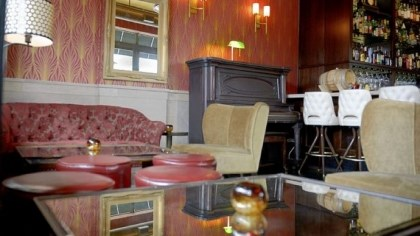 The lounge area The lounge area, near the bar in the main room at Tender Bar.
