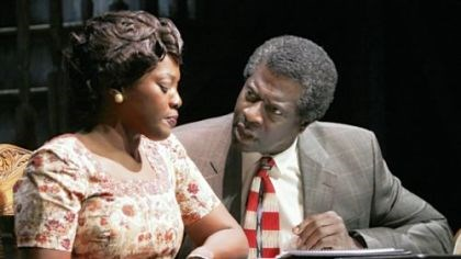 "'The Piano Lesson' Heather Alicia Simms as Berniece and Afemo Omilami as Avery in ""The Piano Lesson."""