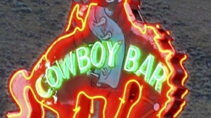 The rider atop the bucking bronco is the symbol of Jackson Hole The rider atop the bucking bronco is the symbol of Jackson Hole and its honky-tonk Million Dollar Cowboy Bar.
