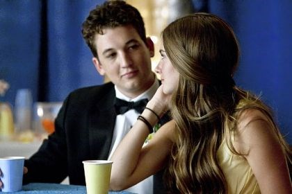 "'The Spectacular Now' Shailene Woodley, left, and Miles Teller portray unlikely young lovers in ""The Spectacular Now."""