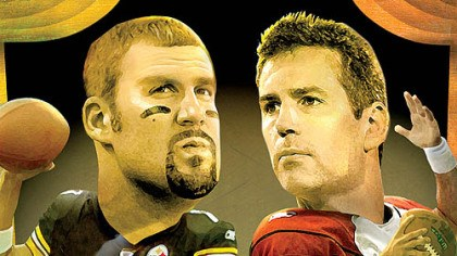 The two quarterbacks The two quarterbacks: Ben Roethlisberger and Kurt Warner