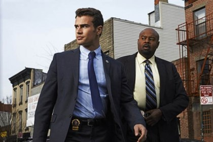 "Theo James and Chi McBride Theo James and Chi McBride in ""Golden Boy."""