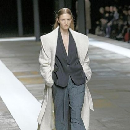 Theyskens Theory fall collection Oversized overcoats were part of the Theyskens Theory fall collection.