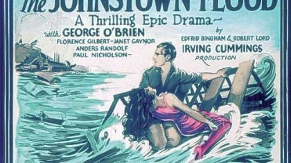 This movie poster promotes a 1926 silent film about the flood This movie poster promotes a 1926 silent film about the flood. Among the bit players were Clark Gable and Gary Cooper. The movie starred Janet Gaynor.
