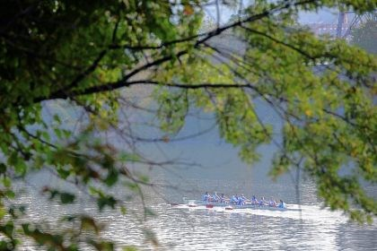 Three Rivers B team Members of Three Rivers B team row along Allegheny River at 2013 Head of the Ohio race on Saturday.