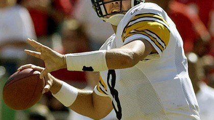 Tommy Maddox Tommy Maddox threw for 3,414 yards in 2003 == third most in franchise history == and the Steelers still went 6-10.