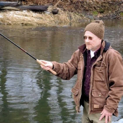 Traditional Japanese tenkara fly rods Traditional Japanese tenkara fly rods use no reel or fly line. Burt Pollock of Sandy Lake, Pa., fishes Neshannock Creek at Volant.