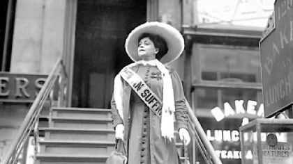 Trixie Friganza Trixie Friganza, a star of musical stage comedies and films, used her celebrity to promote suffrage.