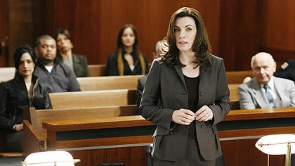 "TV review: 'The Good Wife' In ""The Good Wife,"" Julianna Margulies portrays Alicia Florrick, a wife and mother who must re-enter the workforce as a defense attorney after her husband's very public sex and political corruption scandal lands him in jail."