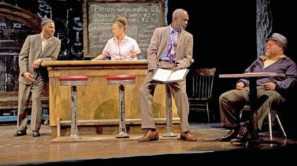 "'Two Training Running' In ""Two Trains Running,"" from left, Jason Dirden as Sterling, Michole Briana White as Risa, Glynn Turman as Memphis and Stephen McKinley Henderson as Holloway."