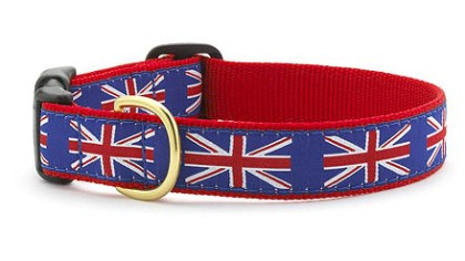 Union Jack dog collar Up Country's Union Jack dog collar, $21 from www.upcountryinc.com