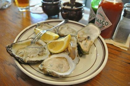 Union Oyster House The daily catch at Union Oyster House in Boston's North End always includes Blue Point oysters. Some 3,000 a day are shucked for hungry customers.