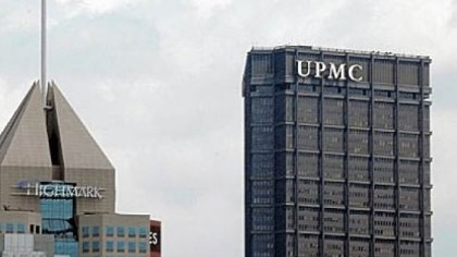 UPMC and Highmark The Fifth Avenue Place headquarters of Highmark in view with the U.S. Steel Tower offices of UPMC in Downtown Pittsburgh.