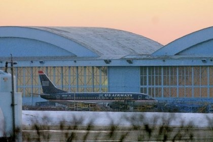 US Airways jet taxies In a file photo, A US Airways jet taxies outside the maintenance hangar at Pittsburgh International Airport.