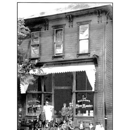 Welcome Meat Market The Welcome Meat Market, with the owner David Crowe and many of the children from the area, at 1554 Ligonier St. At the corner of James and Ligonier streets, the building is now the site of florist the Floral Fountain.