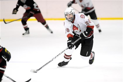 West Allegheny Hockey Jess Ligas, a freshman, shares the team lead in scoring for West Allegheny with 15 points.