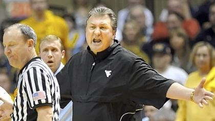 West Virginia Bob Huggins West Virginia head coach Bob Huggins argues after being called for a technical foul as his team played pitt in the second half in West Virginia Monday night.