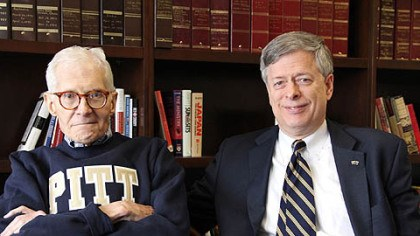 William Dietrich and Mark Nordenberg William S. Dietrich II, left, with University of Pittsburgh Chancellor Mark Nordenberg.