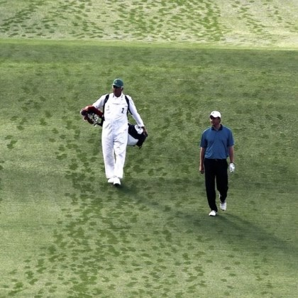 "With father Larry on the bag, Nathan Smith With father Larry on the bag, Nathan Smith walks down the first fairway at Augusta National to open his second trip to the Masters in 2010. Said Smith -- ""Every time you go, you feel as though it's going to be your last. You try to soak it up and then you get to go back."""