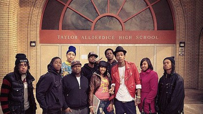 Wiz at Taylor Wiz and some Real Taylors on Feb. 28 at his alma mater, posted on the RealWizKhalifa Twitter account