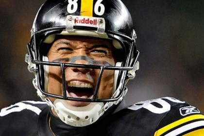 WR Hines Ward Hines Ward is one of two wide receivers drafted since the 1990s who received another contract from the Steelers after their rookie deals expired. Ward retired after the 2011 season.