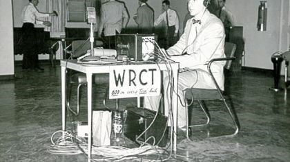 WRCT Early WRCT broadcast, when it was still on the AM dial and heard only on campus