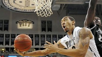 Wright Pitt's Cameron Wright drives to the basket against Providence's Ron Giplaye in the first half Wednesday of what would become the Panthers' first Big East win of the season -- 86-74 vs. Providence at Petersen Events Center.