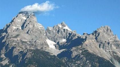 Wyoming's Teton Range Wyoming's Teton Range, with a dozen peaks higher than 11,000 feet, is snowcapped year-round.