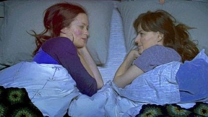 "'Your Sister's Sister' Emily Blunt, left, and Rosemarie DeWitt do some sharing in ""Your Sister's Sister."""