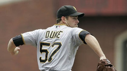 Zach Duke Pirates itcher Zach Duke delivers against the San Francisco Giants in the first inning.