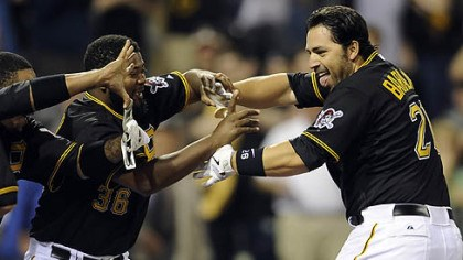 zoltan pirates Pirates catcher Rod Barajas is congratulated at home plate after hitting a two-run walk off home May 9 at PNC Park.