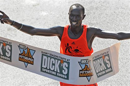 James Kirwa James Kirwa of Kenya is going for his third consecutive Pittsburgh marathon victory.