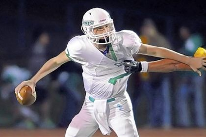 Lions South Fayette quarterback Brett Brumbaugh, one of the top passers in the WPIAL.