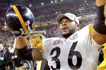 Bettis Jerome Bettis celebrates after Super Bowl XL in Detroit.