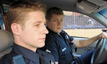 "'Southland' Ben McKenzie, left, and Michael Cudlitz in ""Southland."""