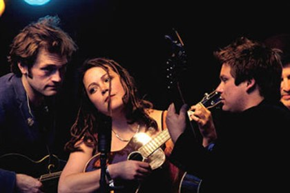 Nickel Creek Members of Nickel Creek - -Chris Thile, left, Sara Watkins and Sean Watkins.