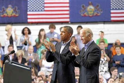 Scranton President Barack Obama and Vice President Joe Biden after talking about college affordability at the Lackawanna College gymnasium in Scranton, Pa., last year.