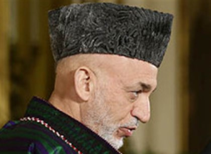 karzai and obama Afghan President Hamid Karzai at joint news conference with President Barack Obama at the White House.