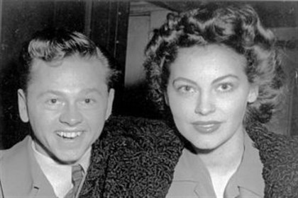 Mickey Rooney and wife Ava Gardner Mickey Rooney and wife Ava Gardner in January, 1942. Their marriage lasted a year.