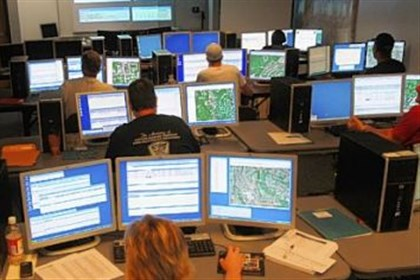 911 center Employees work at the Allegheny County 911 center.