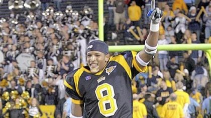 Toledo's Barry Church Barry Church celebrates after a University of Toledo victory.