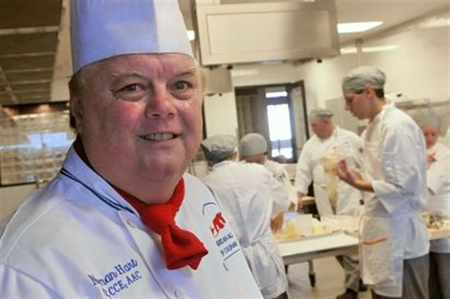 Chef Norman Peter Hart teaches at the new American Academy of Culinary Arts.