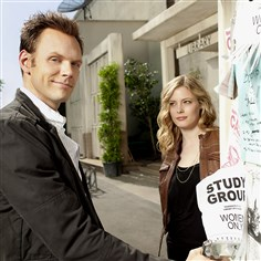 "'Community Service' Joel McHale plays Jeff and Mt. Lebanon native Gillian Jacobs plays Britta in NBC's ""Community."""