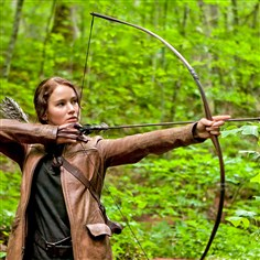 "Jennifer Lawrence Jennifer Lawrence stars as Katniss Everdeen in ""The Hunger Games."""